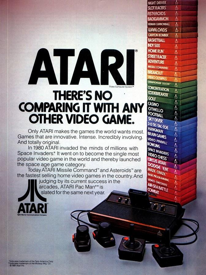 Atari 2600 Advert 1981