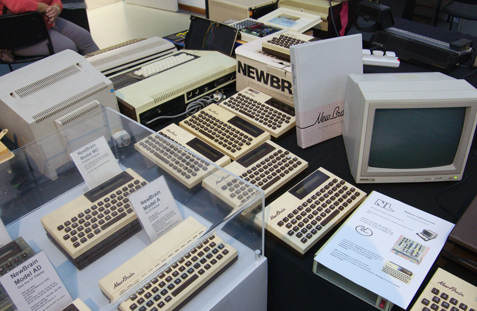 Image showing A collection of Newbrains at the Centre for Computing History in Cambridge, 2019