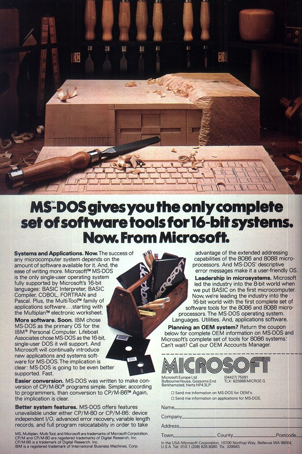 Nosher.net - Microsoft Advert - December 1982