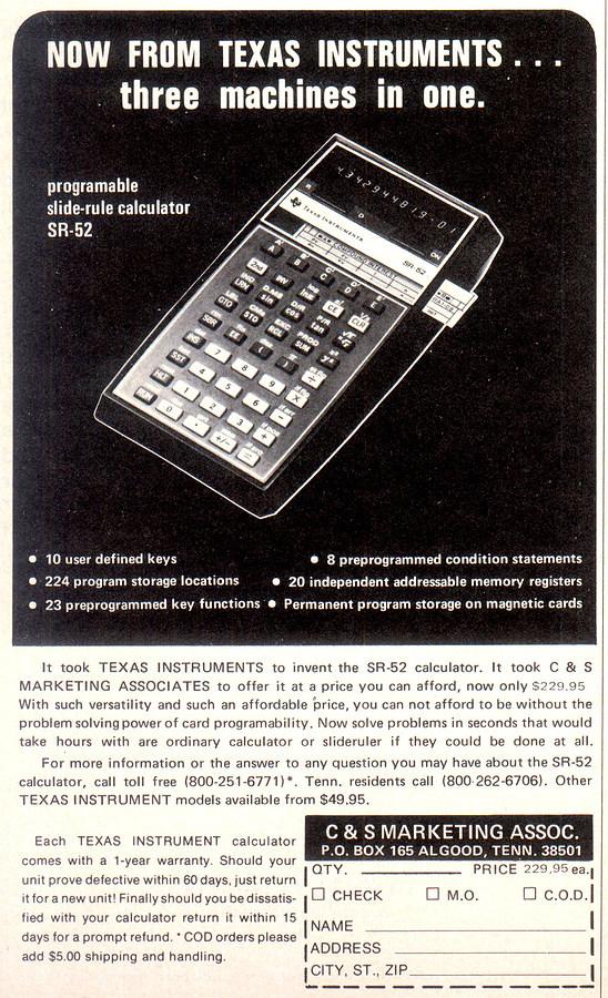 nosher net texas instruments advert december 1976