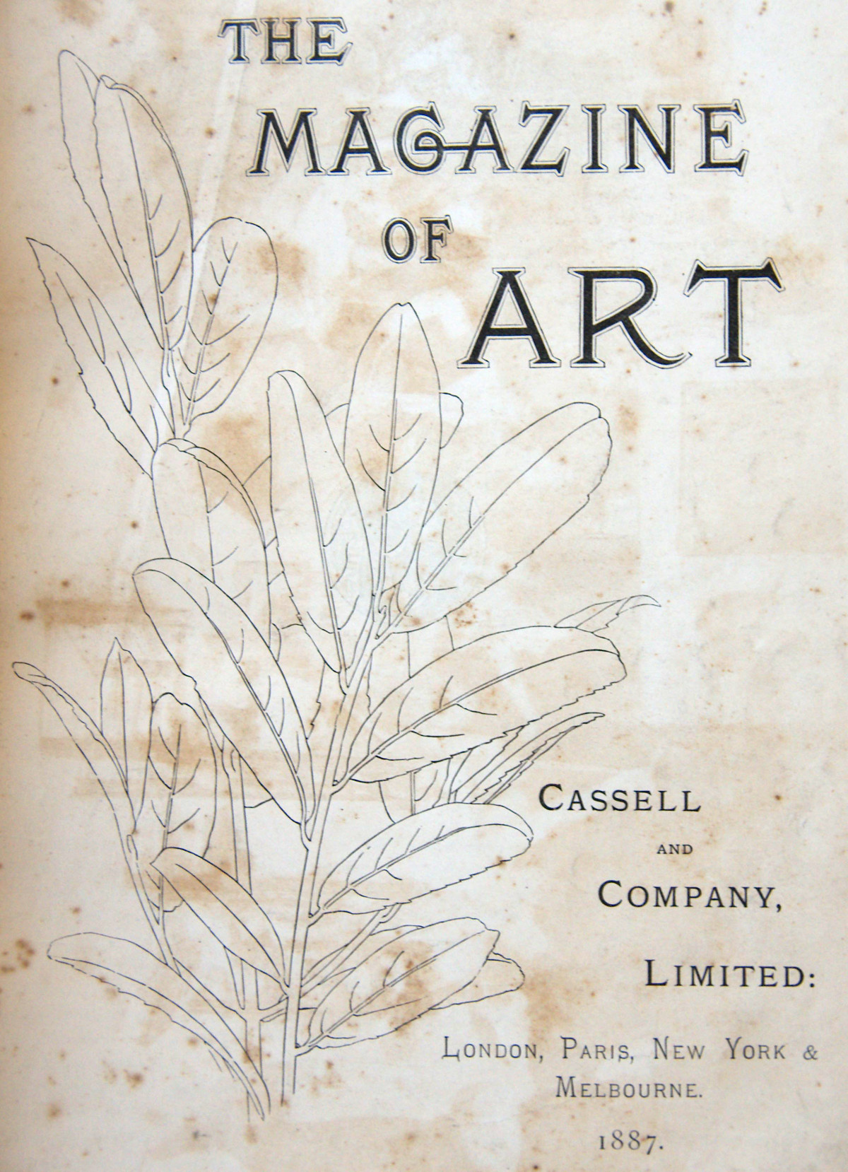 The original frontispiece from the Magazine of Art, 1887b edition
