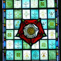 2006 Close up of a stained-glass window